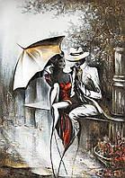 Алмазная вышивка мозаика Чарівний діамант Романтическое свидание-2 КДИ-0896 35х50см 25цветов квадратные полная