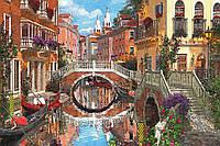 Алмазная вышивка мозаика Чарівний діамант Живописная Венеция КДИ-0985 40х60см 30цветов квадратные полная