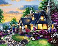 Алмазная вышивка мозаика Чарівний діамант Дом мечты – Сказочное цветение-2 КДИ-1027 40х50см 30цветов
