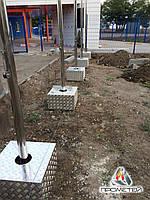 Флагштоки зовнішні з нержавіючої сталі біля адміністративних будівель, фото 1