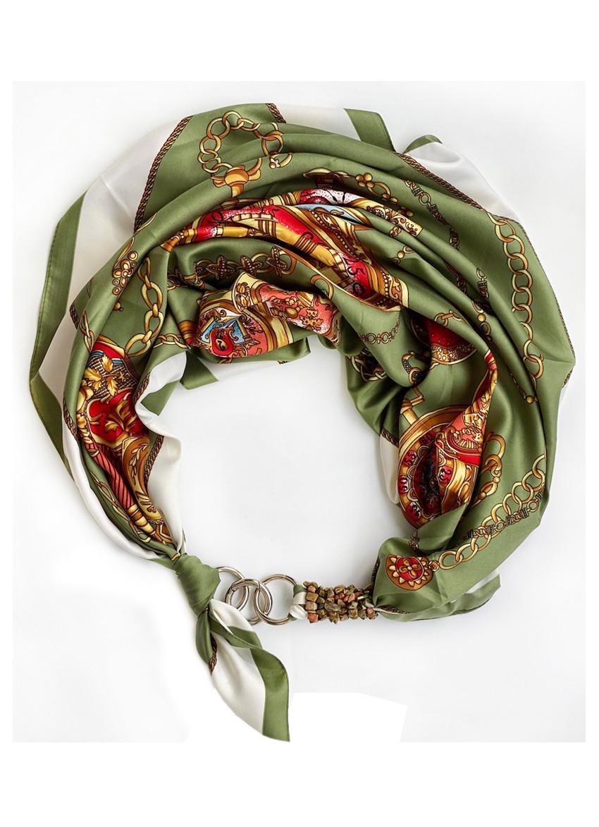 """Шелковый платок my scarf """"Итальянский шик"""", шейный платок, подарок женщине"""