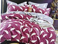 """Полуторное комплекты постельного белья фланель """"Листья на розовом"""""""