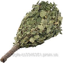 Веник для бани, сауны березовый в упаковке, банный веник