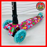 """Самокат детский трехколесный со светящимися колёсами """"Best Scooter"""""""