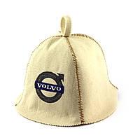 Шапка для сауны (белая), Volvo, искусственный фетр, шапка для бани, сауны