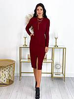 Женское стрейчевое платье с вырезом, фото 1
