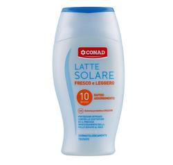 Conad Latte Solare P10 - Молочко защитное охлаждающее с ментолом UVA/UVB SPF10, 200 мл (540048)