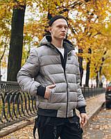 Зимняя двусторонняя мужская куртка Omar черно-серая