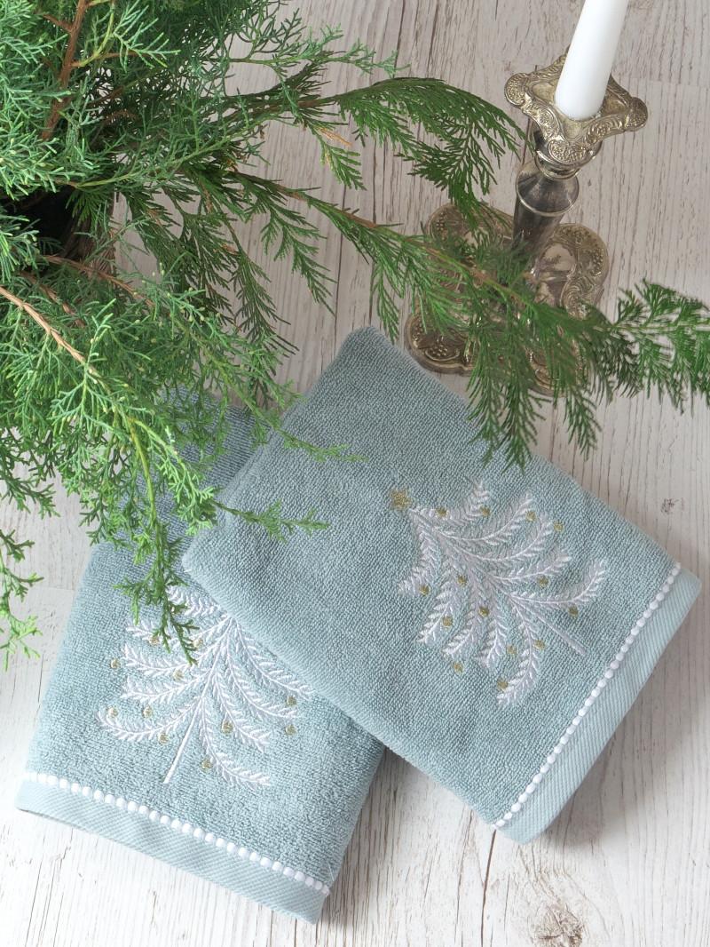 Набір рушників Pavia Christmas tree V3 (45x70-2шт.) бірюзовий