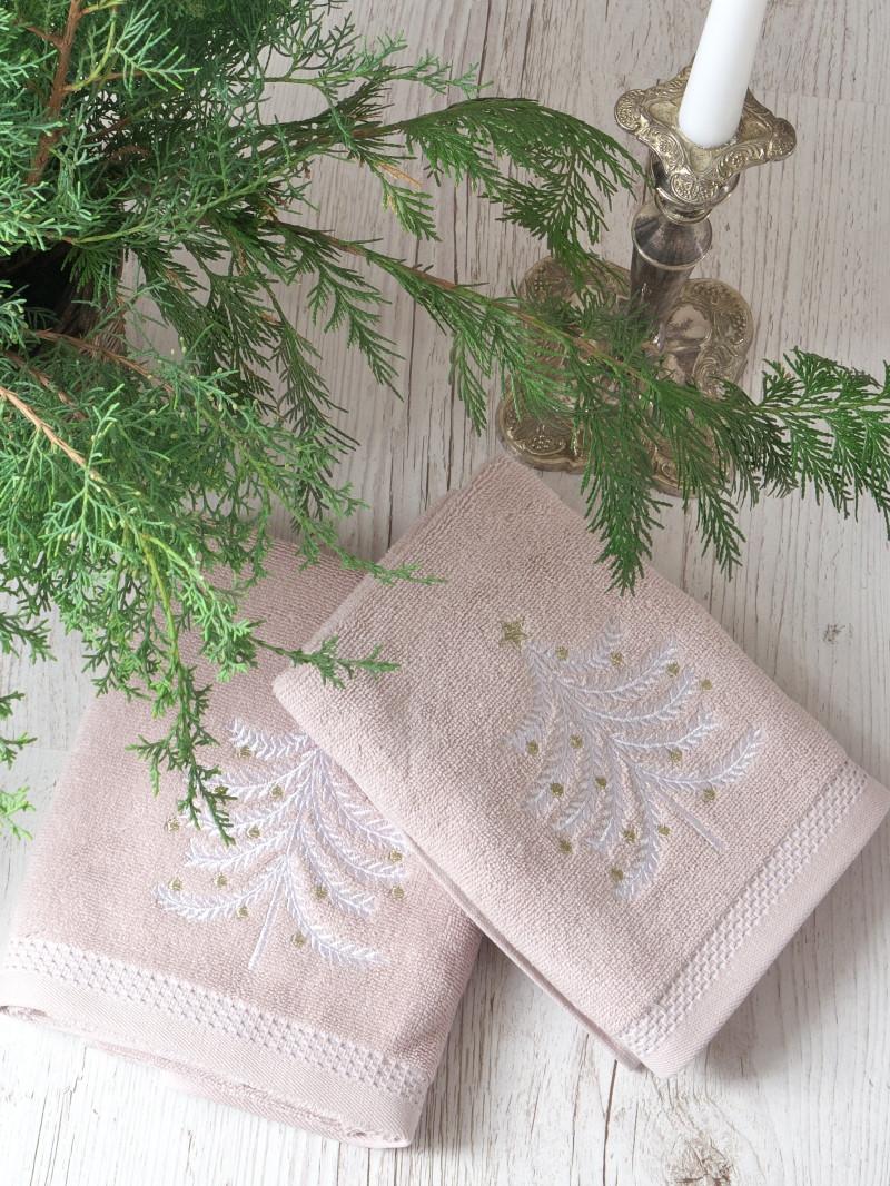 Набір рушників Pavia Christmas tree V3(45x70-2шт.) рожевий