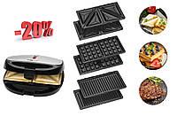 Сендвич набор 3 в 1 CLATRONIC ST/WA 3670 сендвичница, гриль, вафельница