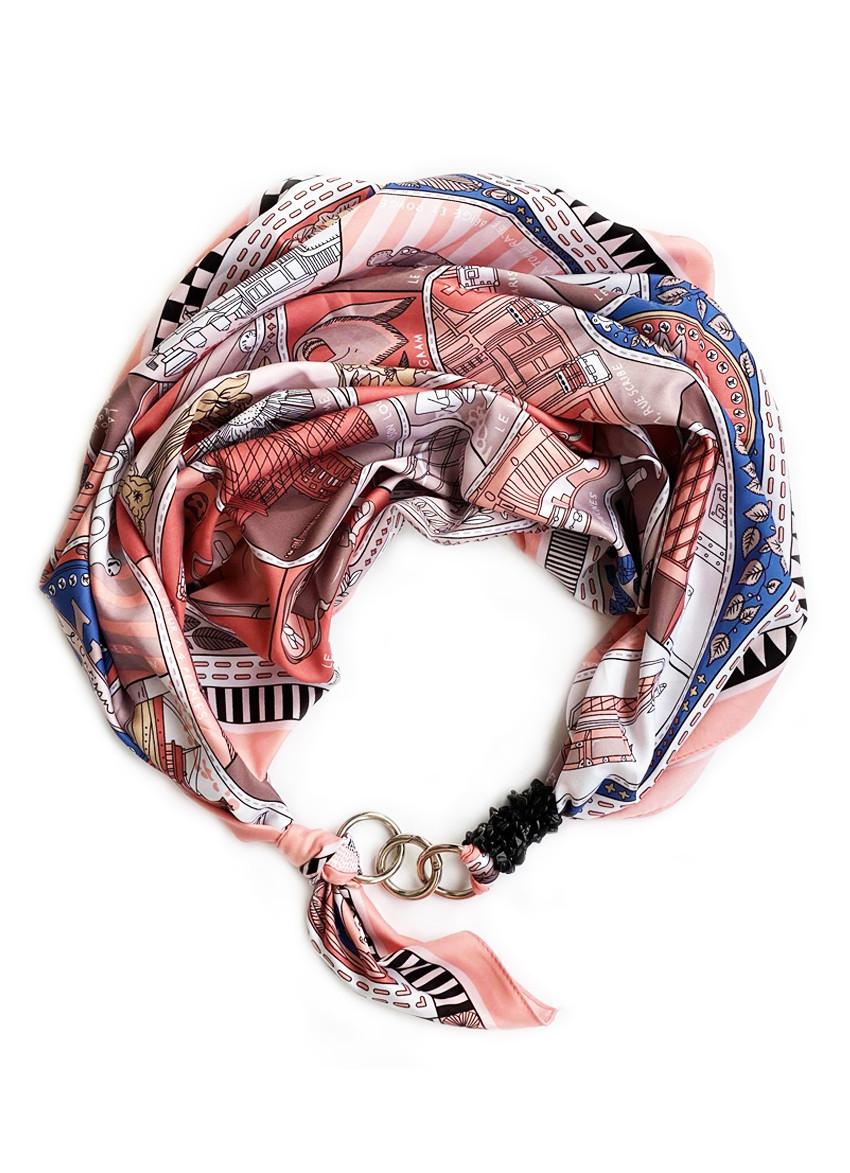 """Шовковий хустку my scarf """"Римські канікули"""""""" , шийну хустку, подарунок жінці"""