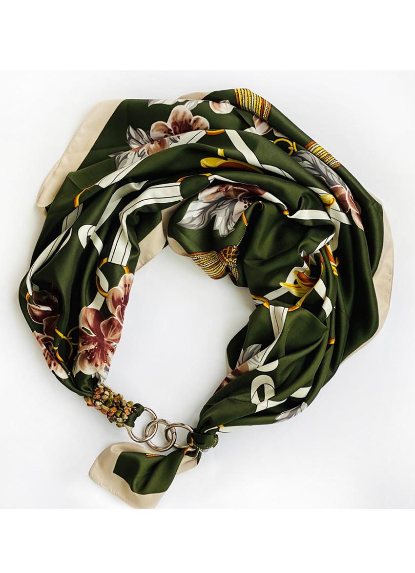 """Дизайнерський хустку my scarf """"Дикі орхідеї"""", шийну хустку, подарунок жінці"""