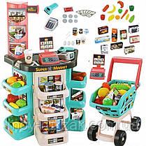 Детский игровой супермаркет, касса, тележка, звуковые эффекты, 47 предметов, 668-76, фото 3