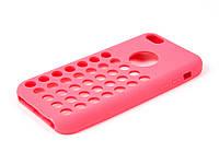 Чехол-накладка для Apple iPhone 5C, силиконовый с дырочками, COOK, Розовый /case/кейс /айфон