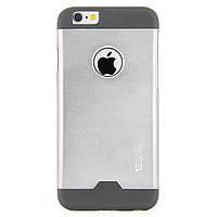 Чехол-накладка для Apple iPhone 6, поликарбонат с металлической вставкой, Cococ, Серый /case/кейс /айфон