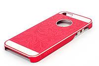Чехол-накладка для Apple iPhone 5/5S iBacks, алюминиевый, Cameo series, Красный /case/кейс /айфон
