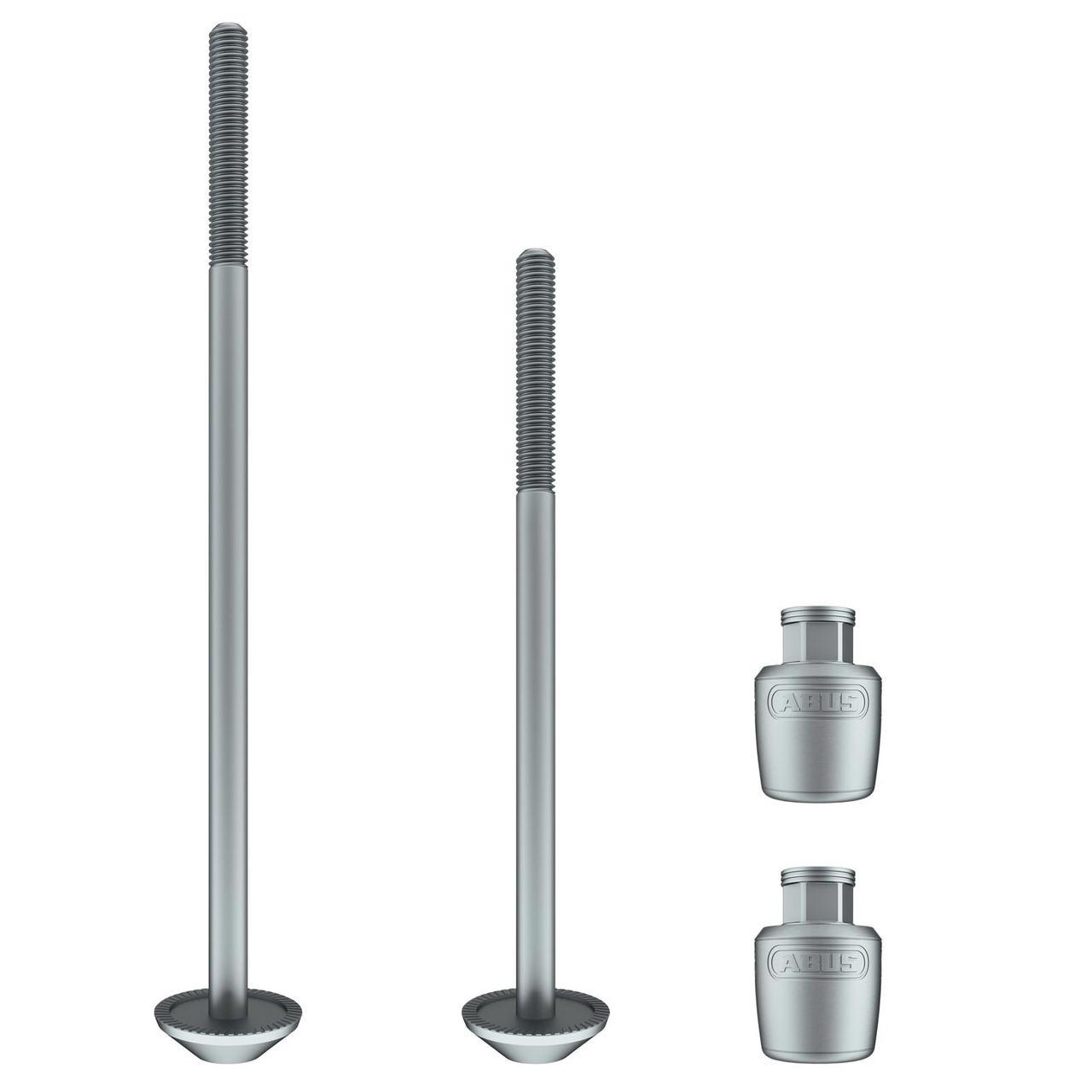 Набор осей с гайками-секретками ABUS NutFix Axle Set 100 mm/135 mm x M5 Silver 2 (Набір, дві осі)