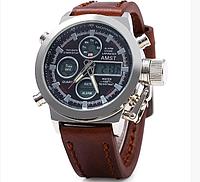 Часы армейские AMST AM3003 Brown (KG-425)