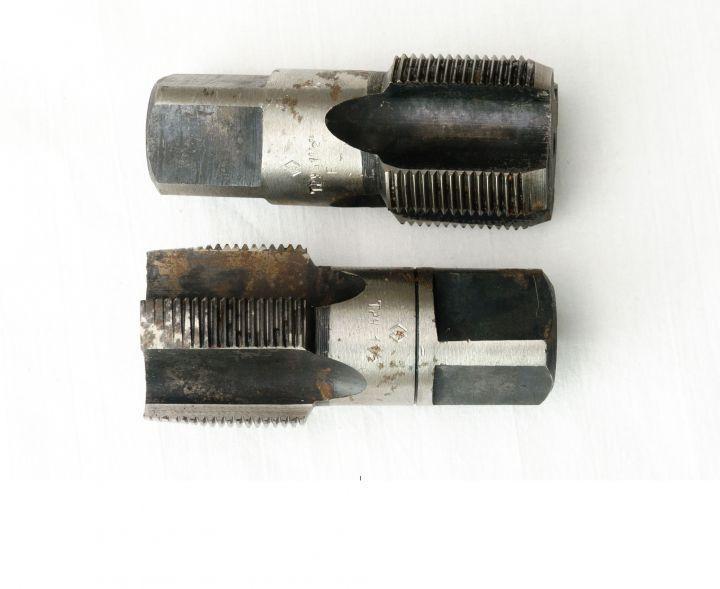"""Метчик трубный машинно-ручной G 1 1/2"""" комплект из 2-х штук Китай шлифованный"""