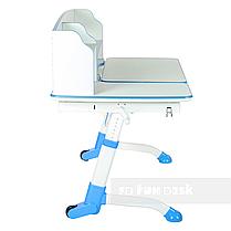 Комплект для школьника парта FunDesk Amare II Blue + кресло для дома FunDesk Bello II Grey, фото 2