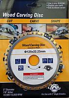 Пильный цепной  диск для УШМ(болгарка) 125х22.23