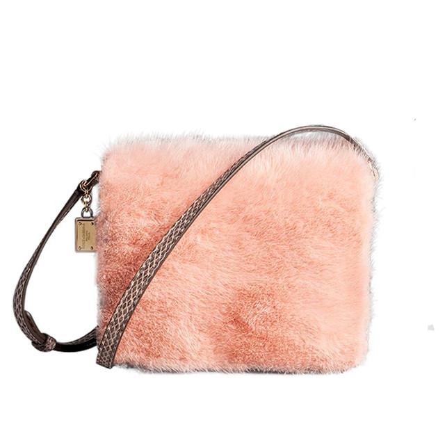 pink fur bag Dolce & Gabbana