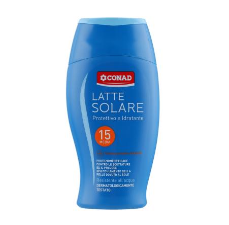 Conad Latte Solare P15 - Захисне молочко UVA/UVB SPF 15, 200 мл (540024)