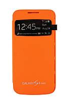 Чехол-книжка для Samsung Galaxy S4 mini i9190, боковой, Flip Case, оранжевый /flip case/флип кейс /самсунг