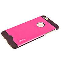 Чехол-накладка для iPhone 6 Plus, поликарбонат с металической вставкой, Cococ, Малиновый /case/кейс /айфон