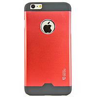Чехол-накладка для iPhone 6 Plus, поликарбонат с металической вставкой, Cococ, Красный /case/кейс /айфон