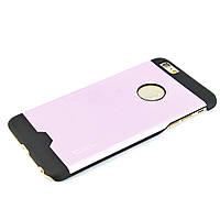 Чехол-накладка для iPhone 6 Plus, поликарбонат с металической вставкой, Cococ, Розовый /case/кейс /айфон