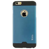 Чехол-накладка для iPhone 6 Plus, поликарбонат с металической вставкой, Cococ, Синий /case/кейс /айфон