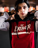 BREAKER Мужской зимний спортивный костюм красный утепленный с капюшоном. Худи  красное, штаны красные, фото 2
