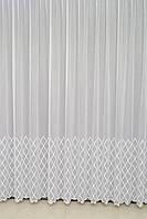 Готовая турецкая тюль бамбук на окна цвет белый,золото, молочный  , пудра , сирень (обработка сторон + 40 грн), фото 1