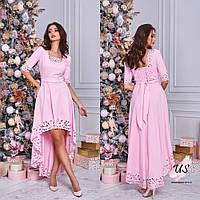Вечернее асимметричное платье с перфорацией. 7 цветов!, фото 1