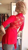 Красный кардиган на завязке с кружевной спинкой Christina Gavioli, фото 1