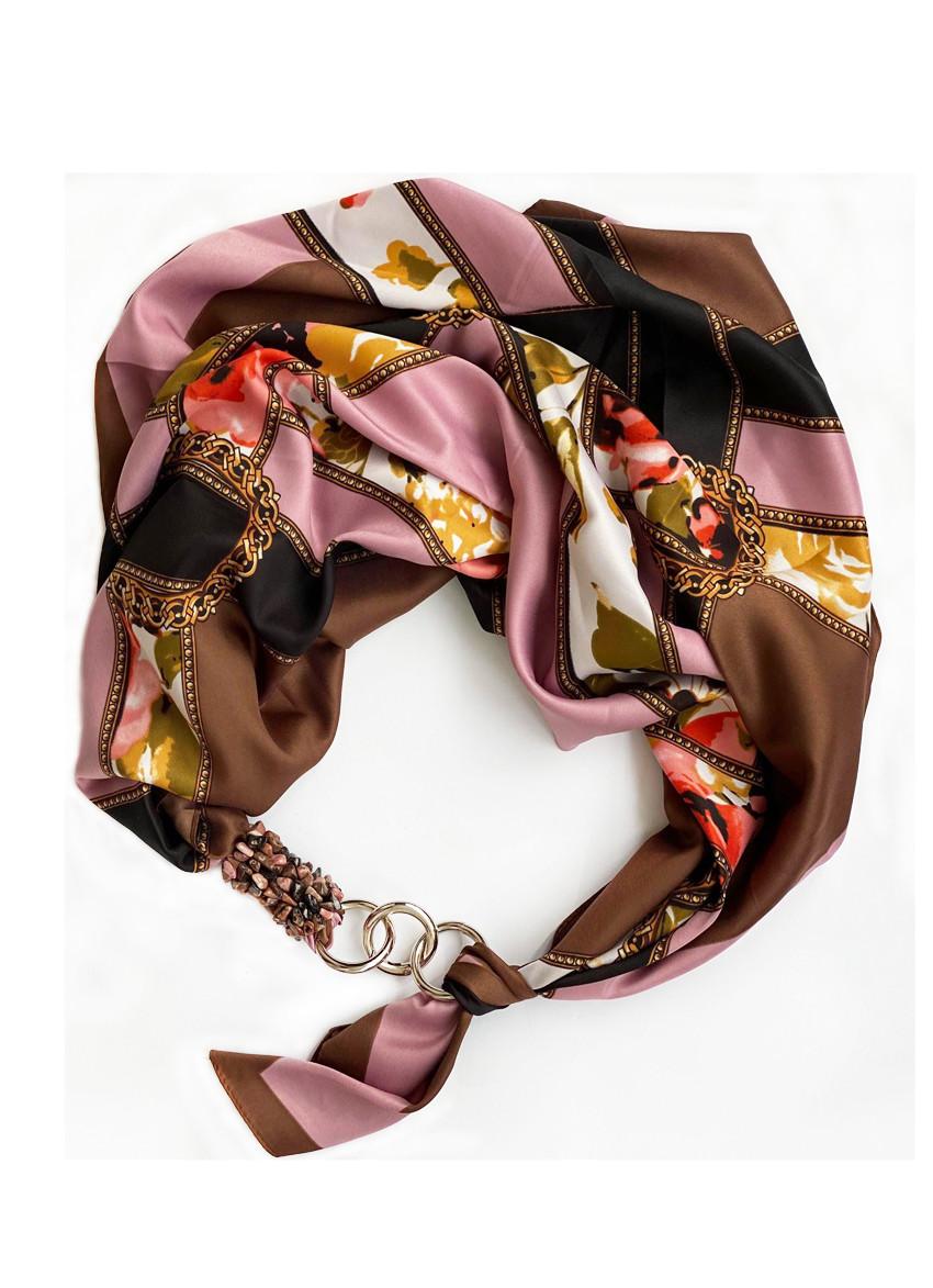 """Дизайнерський хустку my scarf """"Морозний шоколад"""", шийну хустку, подарунок жінці"""