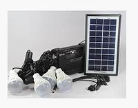 Фонарик с солнечной батареи USB порт 4 подвесные лампочки USB кабель с переходниками GD 8038 код 8038
