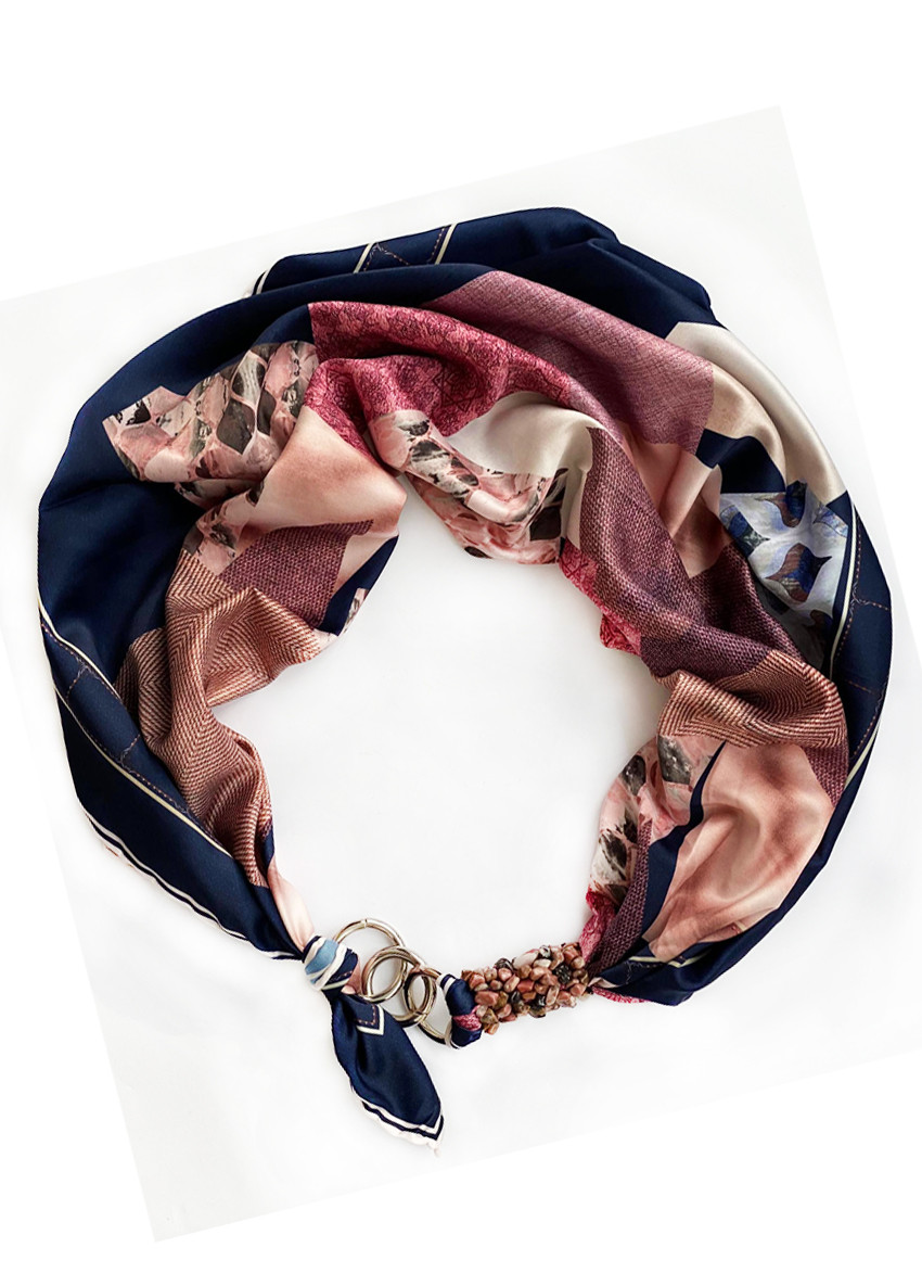 """Шелковый платок my scarf """"Горная нимфа """" , шейный платок, подарок женщине"""
