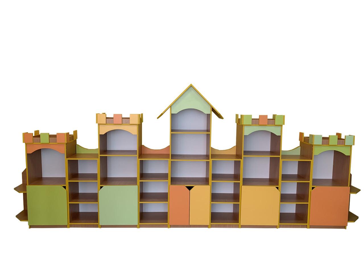 """Шкаф блок для пособий и игрушек """"Крепость"""""""
