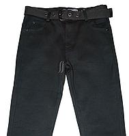 Джинсы для мальчика на флисе, черного цвета, фото 1