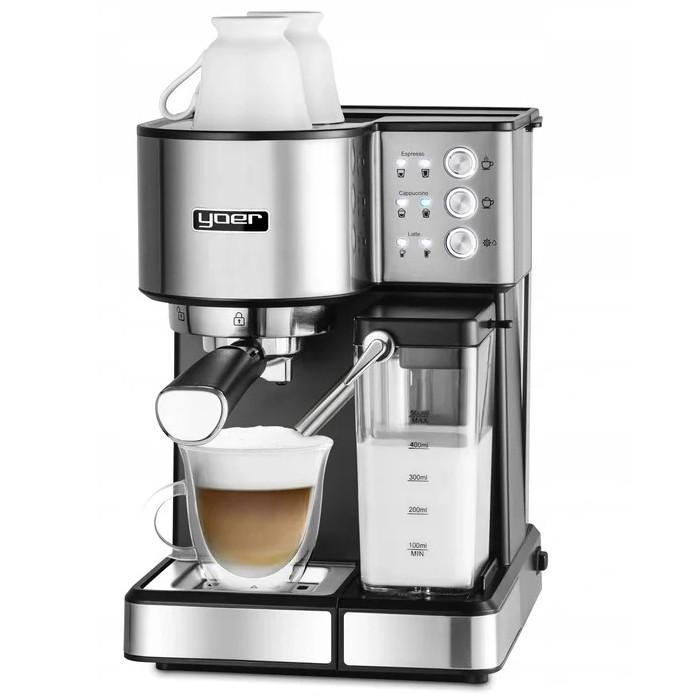 Автоматична кавоварка еспресо високого тиску Yoer INOX 15 бар, кавомашина