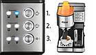 Автоматична кавоварка еспресо високого тиску Yoer INOX 15 бар, кавомашина, фото 4