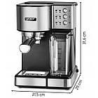 Автоматическая кофеварка эспрессо высокого давления Yoer INOX 15 бар кофемашина, фото 5