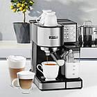 Автоматична кавоварка еспресо високого тиску Yoer INOX 15 бар, кавомашина, фото 2