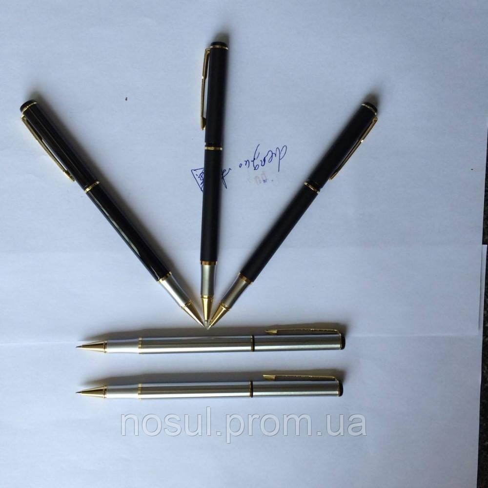 Parker шариковые ручки (аналог, без надписи) роллер Parker Black Silver золото Gift копия - ЧП Носуль С. А. ***066-4358285 (viber)*** sergey@nosul.com.ua  *** в Кременчуге