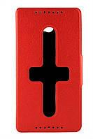 Чехол-книжка для Lenovo S930, боковой, Pielcedan, красный /flip case/флип кейс /леново