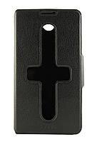 Чехол-книжка для Lenovo S939, боковой, Pielcedan, черный /flip case/флип кейс /леново