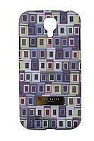 Чехол-накладка для Samsung Galaxy S4, i9500, с рисунком, пластиковый, Soft Touch, Ted Baker 3 /case/кейс /самсунг галакси